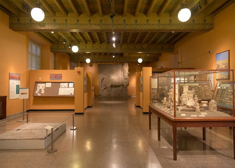 inside museum of the oriental institute