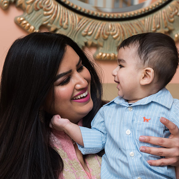 Sana Khan delivered her son at the University of Chicago Medicine Family Birth Center