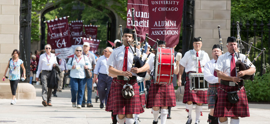 Bagpipes at Alumni Weekend