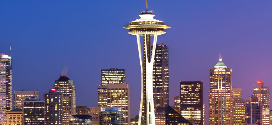 Space Needle in downtown Seattle