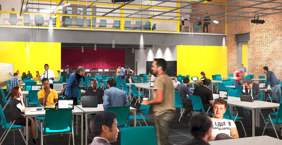 Architectural rendering of Chicago Innovation Exchange