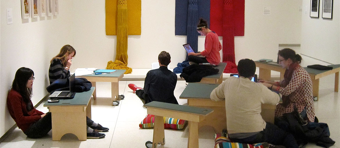 Students work in the Smart Museum