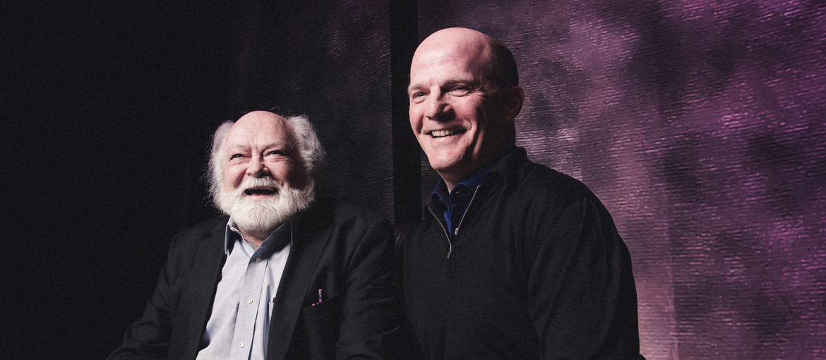 Former Court Theatre artistic director Nicholas Rudall and current artistic director Charles Newell