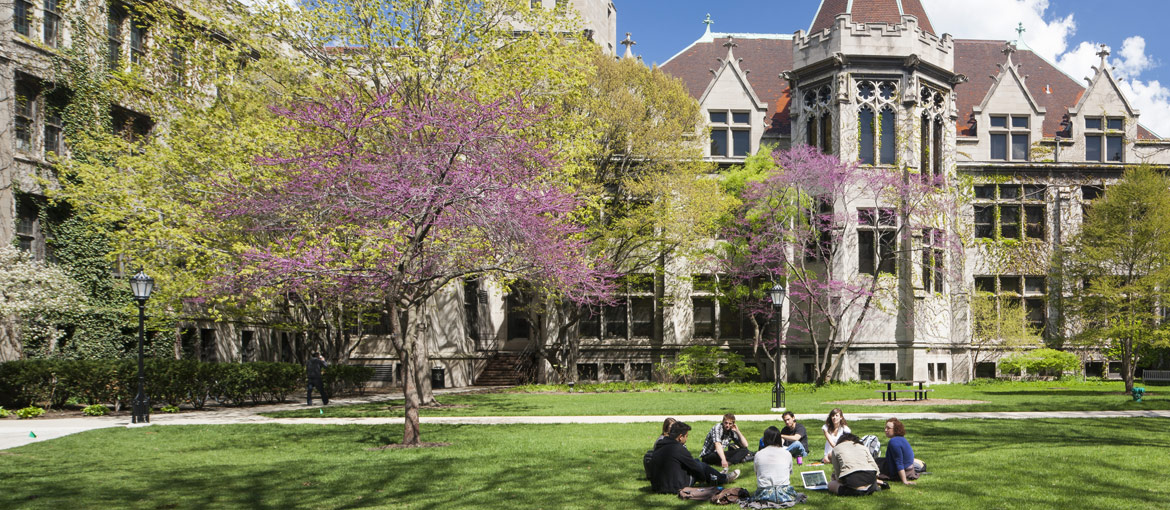 Humanities building at the University of Chicago