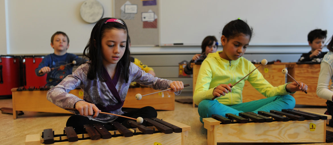 Laboratory Schools students in music class