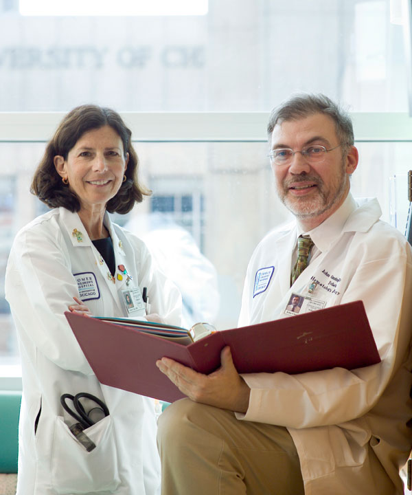 Susan Cohn, MD, and John Cunningham, MD