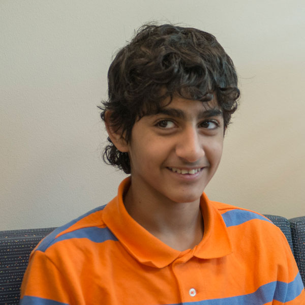 After receiving a stem cell transplant, Ali Al-Mammari visits Dr. Cunningham for a check-up.