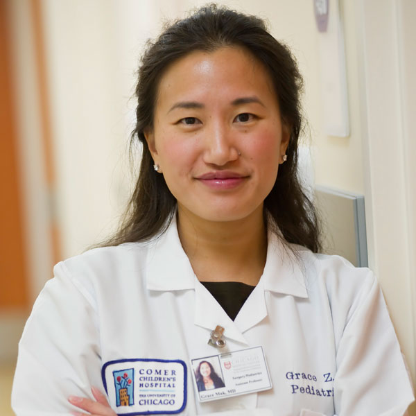 Grace Mak, MD, director of the Pediatric Colorectal Reconstruction Center,