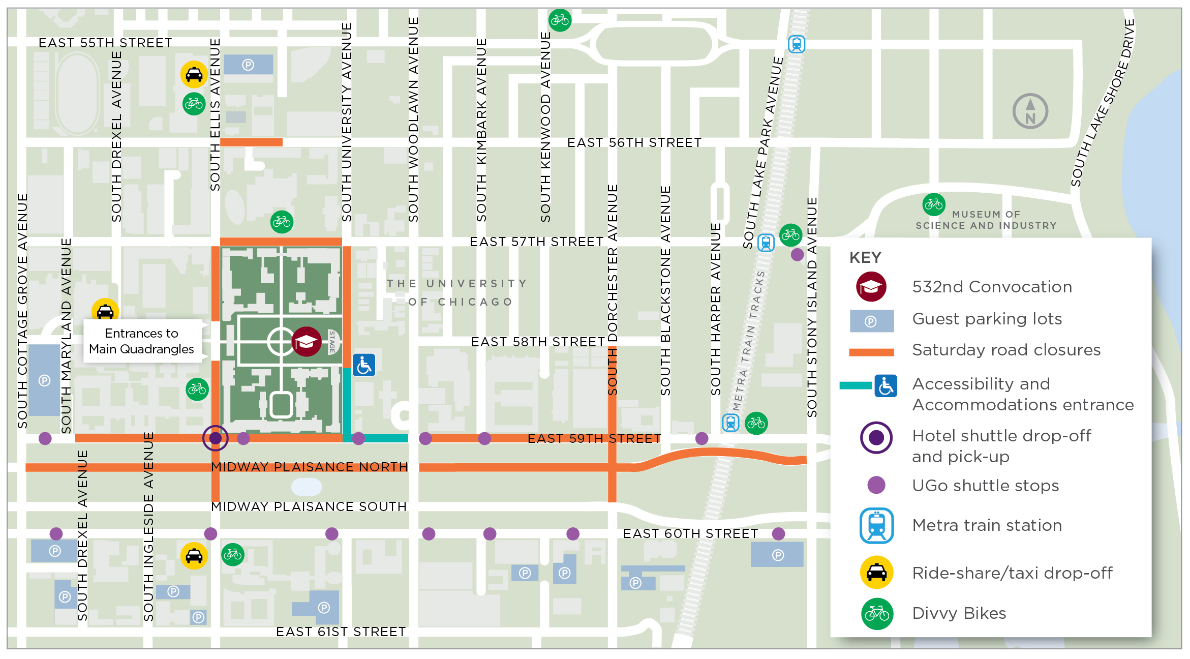 Maps | Convocation | The University of Chicago Divvy Map Chicago on