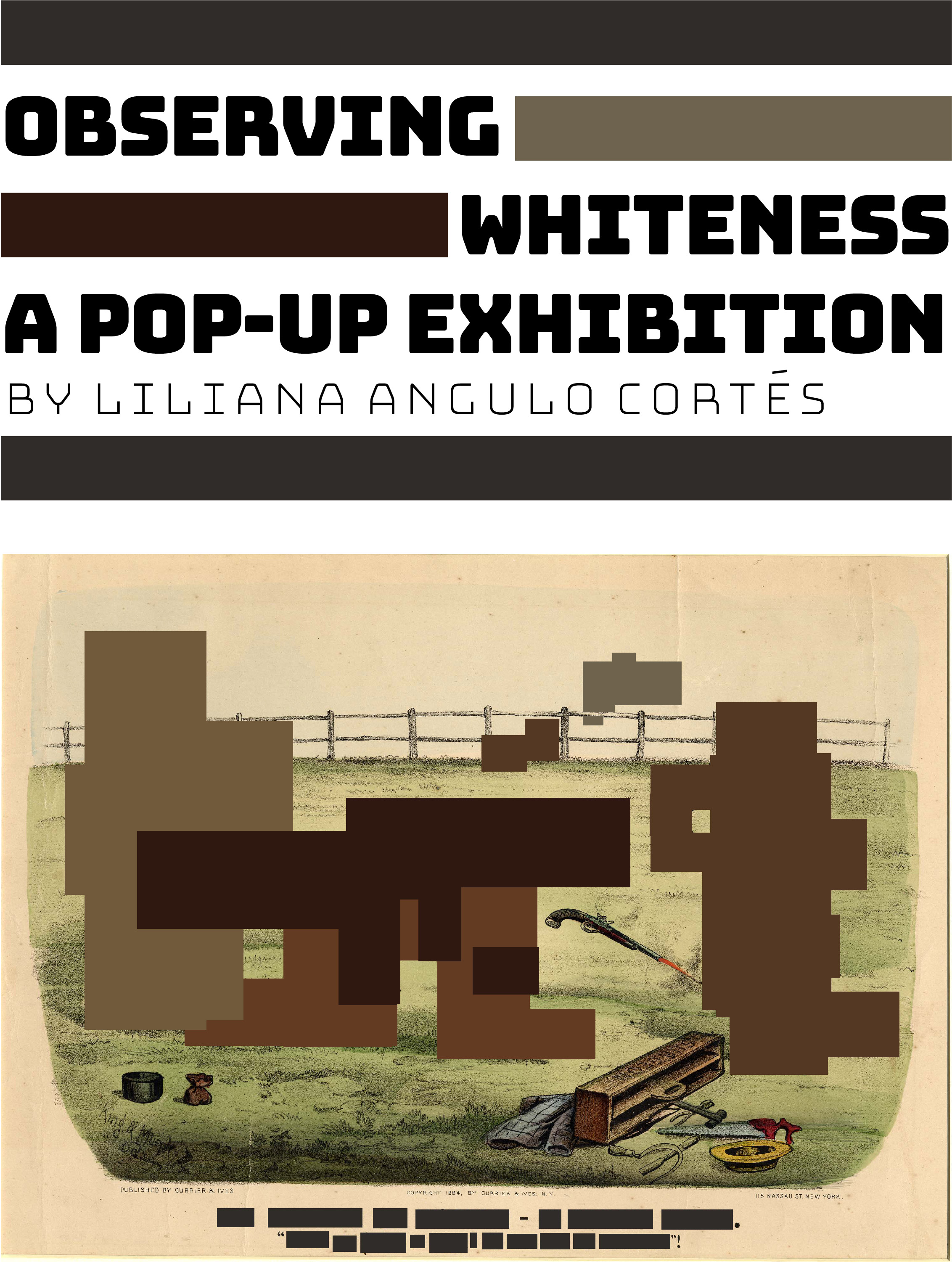 6ea393430864 Observing Whiteness  A Pop-Up Exhibit by Liliana Angulo Cortés
