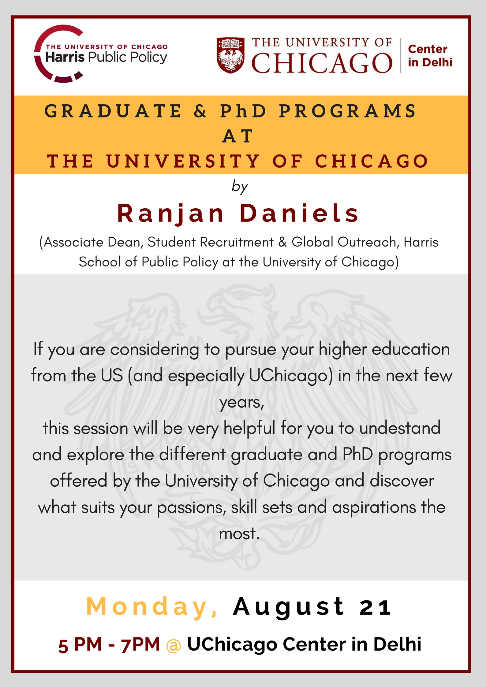 Graduate and PhD Programs at the University of Chicago | Center in