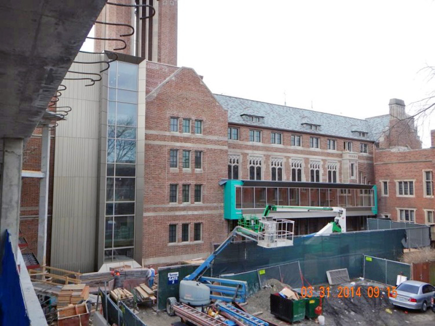 Main building construction