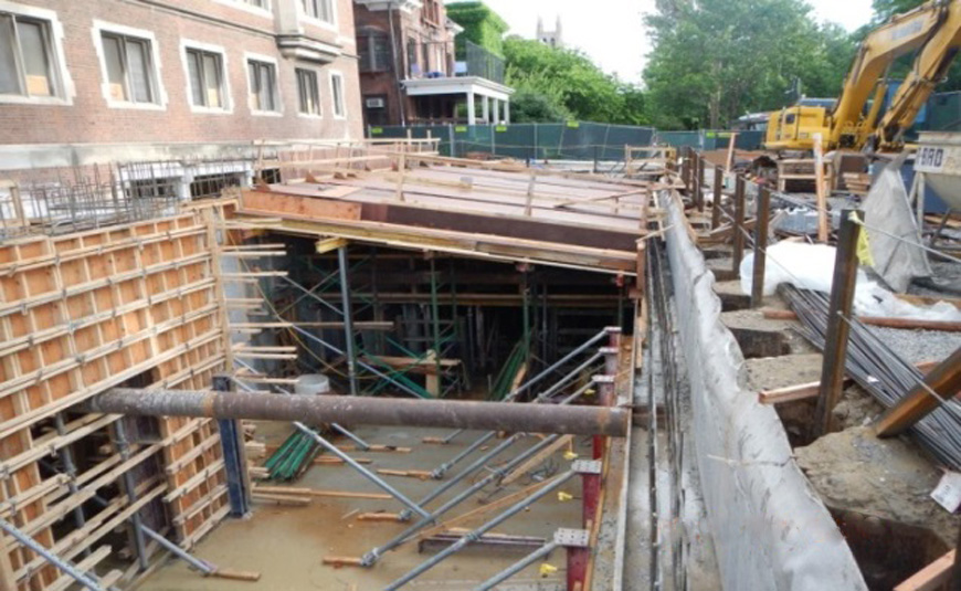 Construction of east ComEd vault.