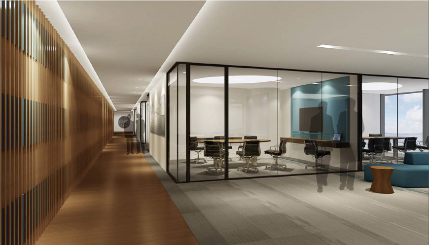 Rendering Of The Proposed Ocean View Study Room And Gallery At Cyberport Center