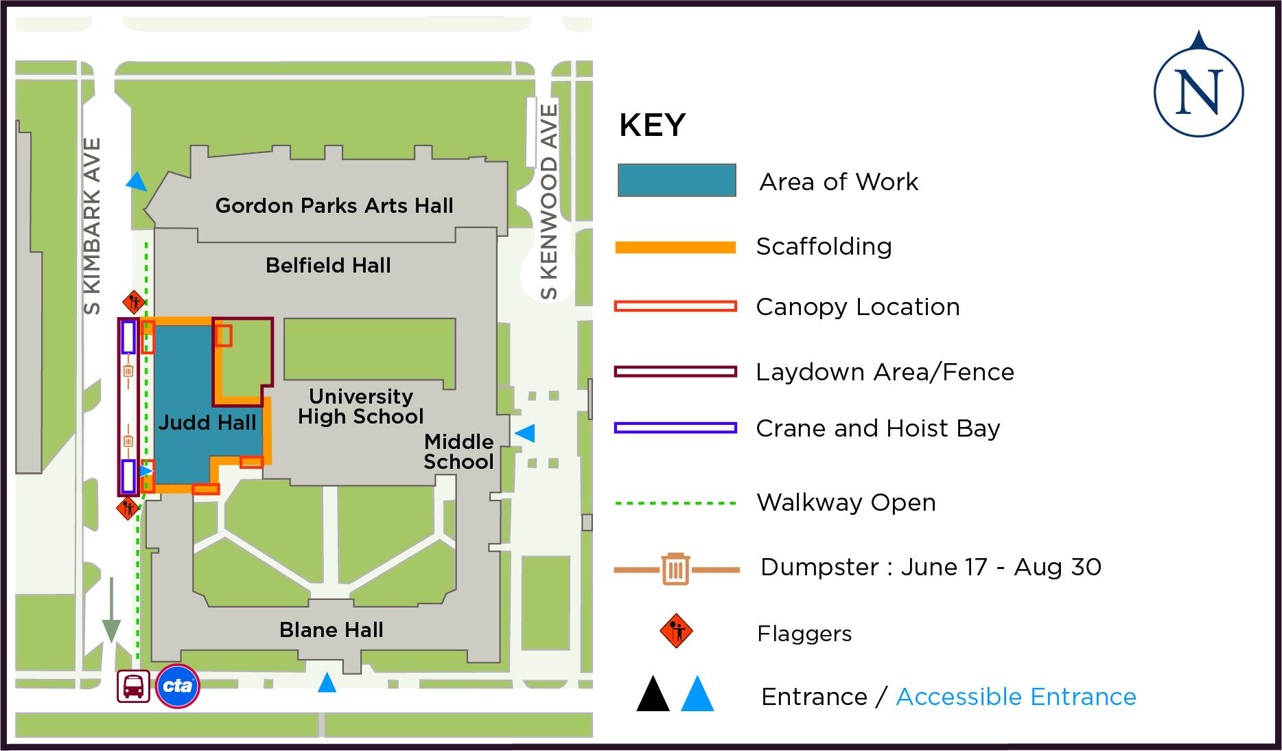 Judd Hall Phase 2 construction graphic