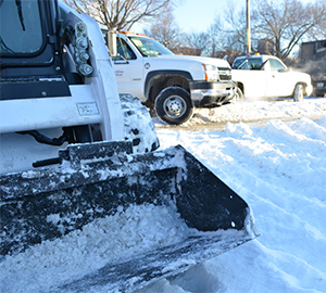 a close look at snow shoveling equipment