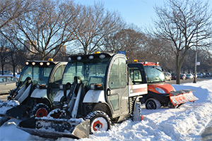 facilities services snow crew equipment