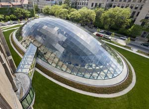 Aerial view of mansueto library