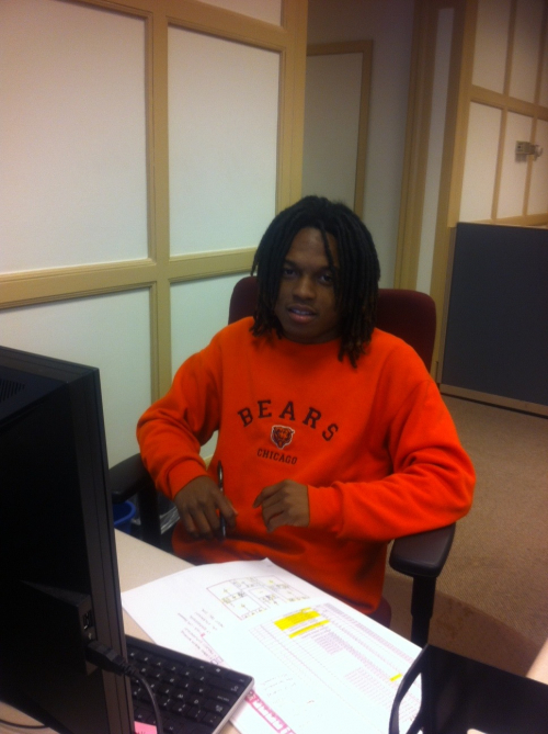 Wendell Phillips Academy student Michael Jones is names Facilities Services intern of the week at the University of Chicago.