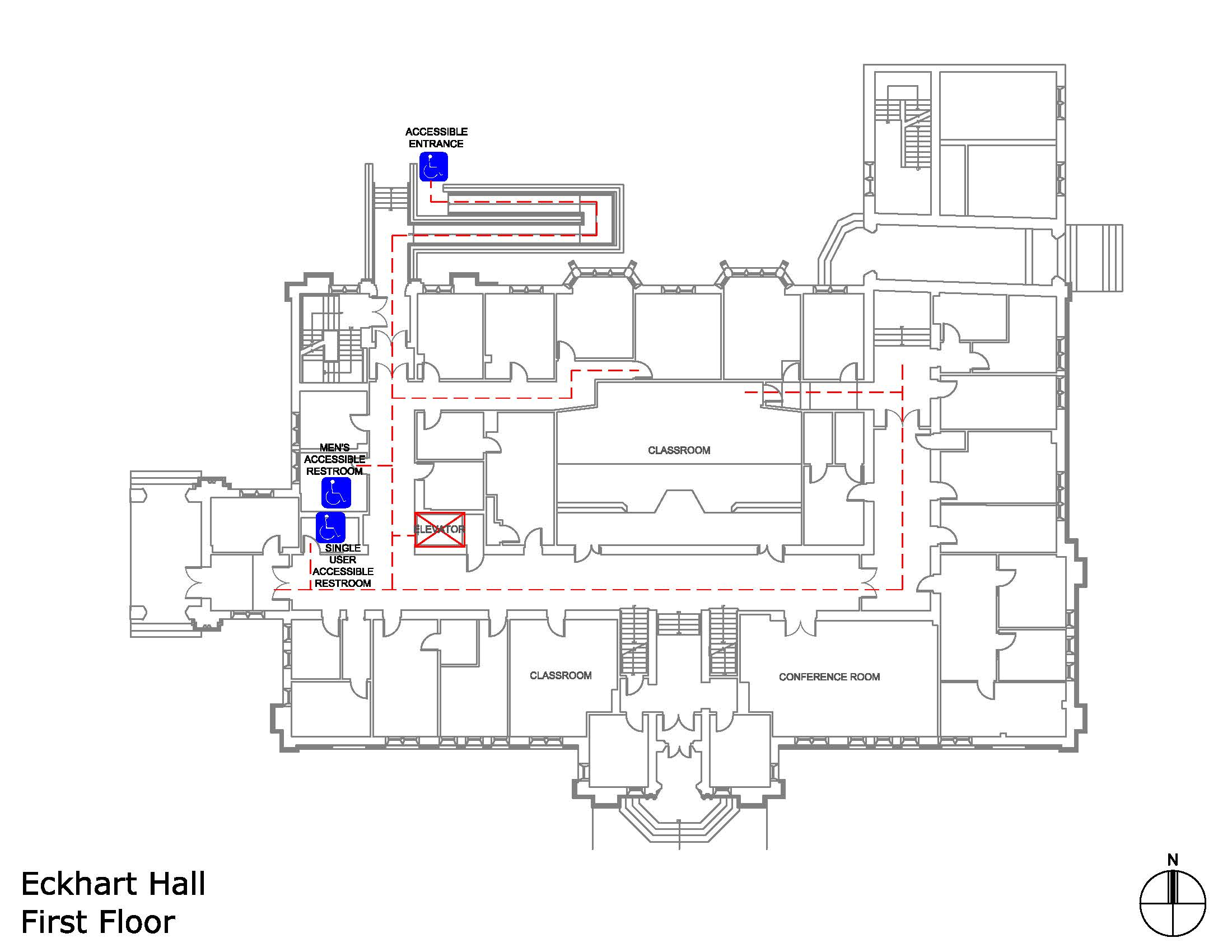 Eckhart Hall first floor accessible areas