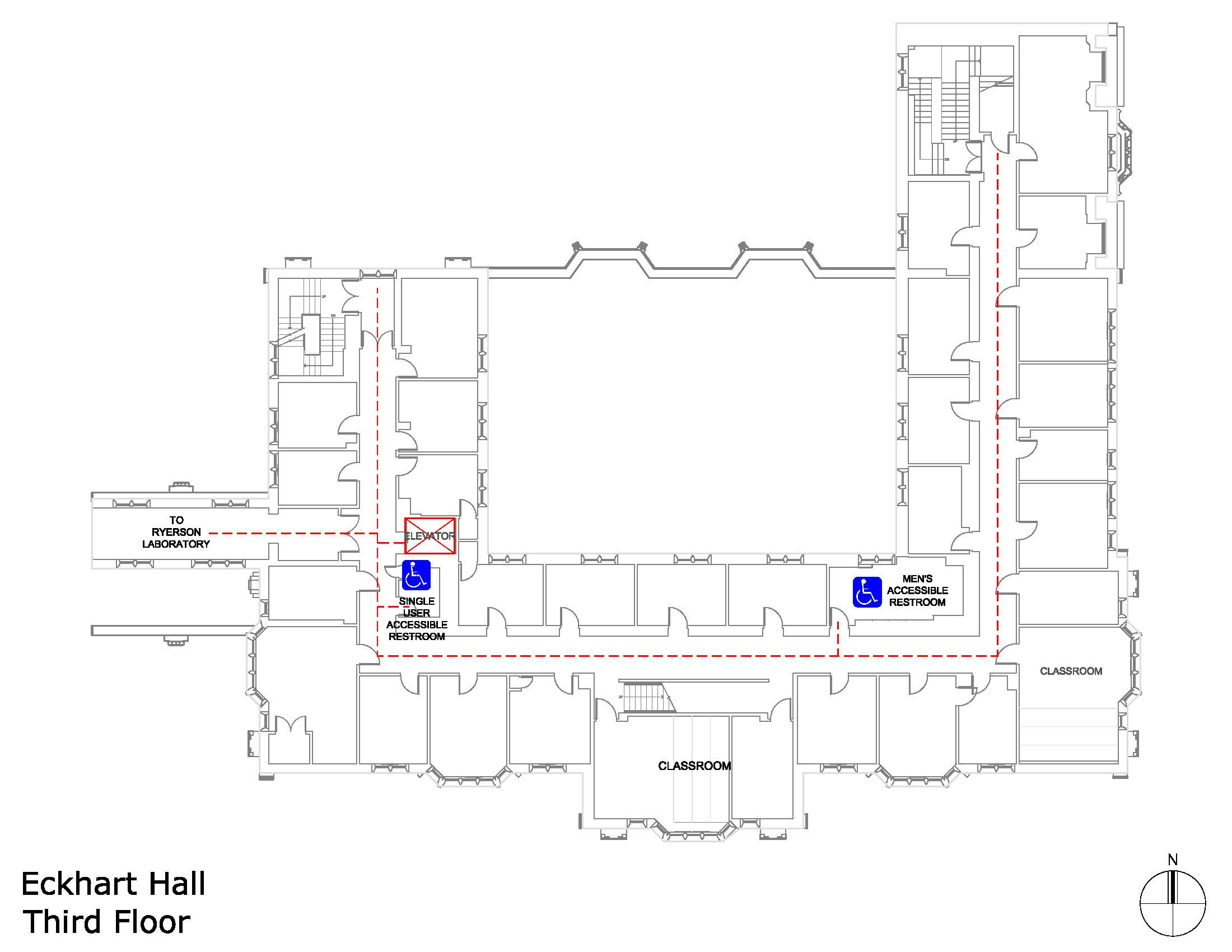 Eckhart Hall third floor accessible areas