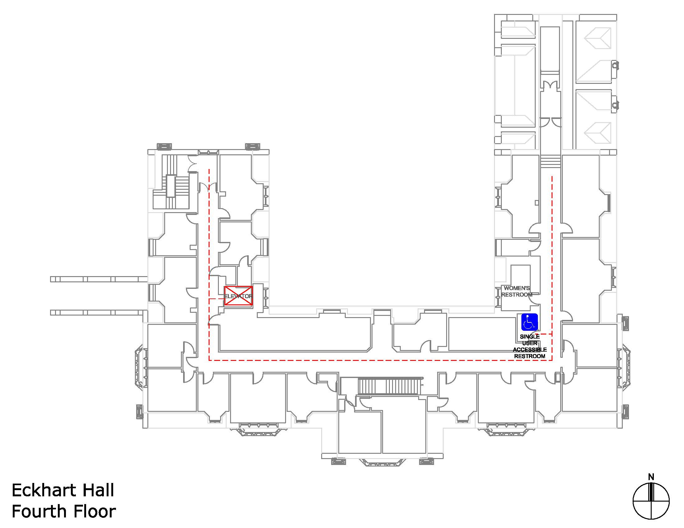Eckhart Hall fourth floor accessible areas