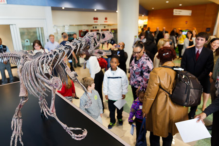 Dawn the Dinosaur moves to Comer Children's Hospital Image