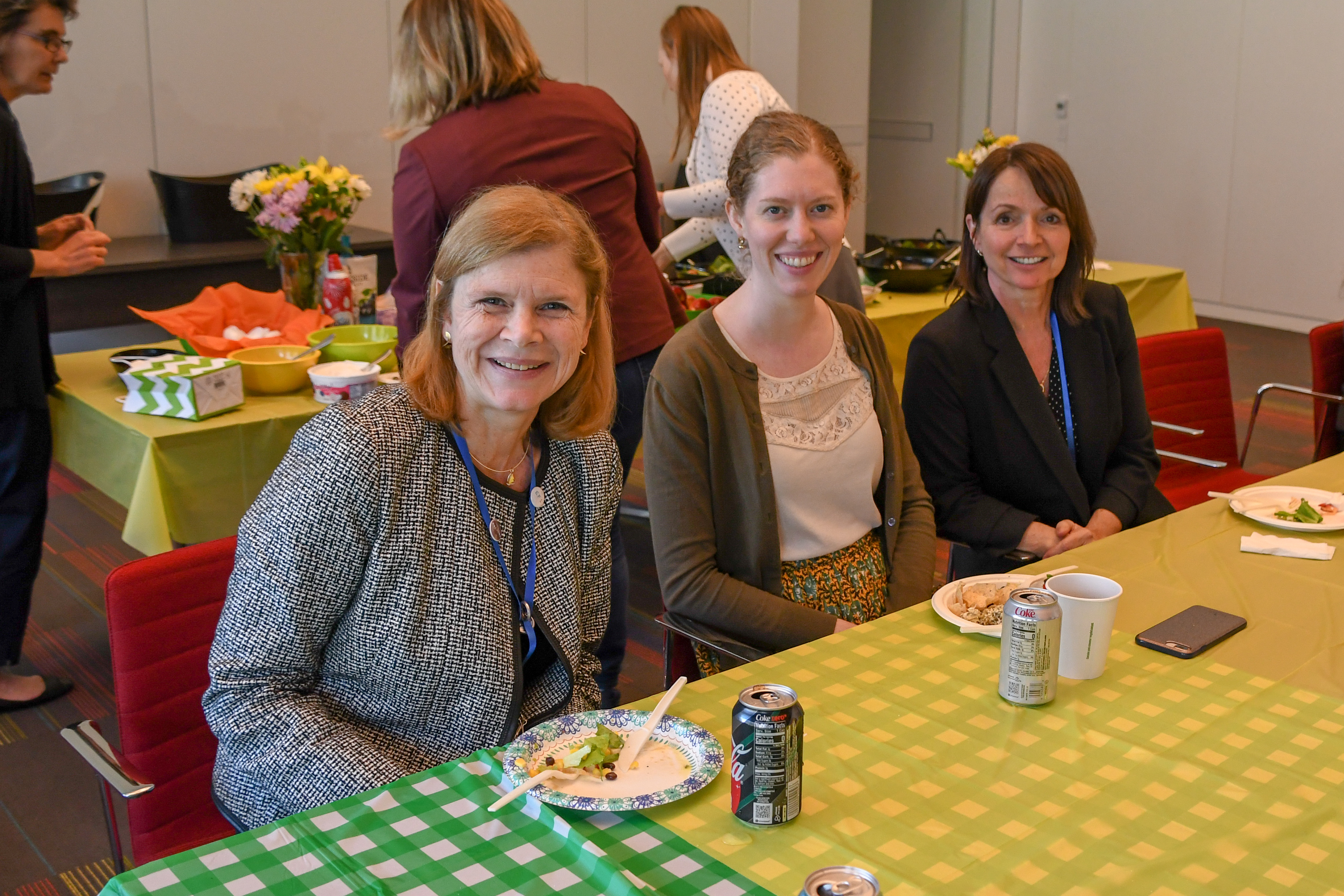 PSD Dean and staff at potluck