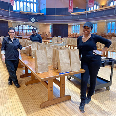 Meals are being delivered for Office of Civic Engagement food give away