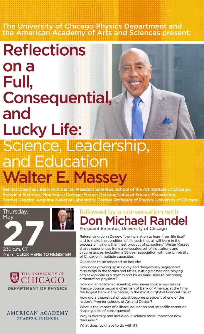 Walter E. Massey Event Poster