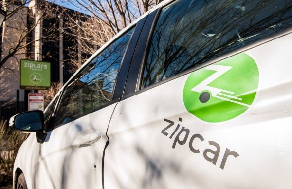 Many Zipcars are located throughout campus.