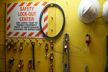 Safety lock-out center