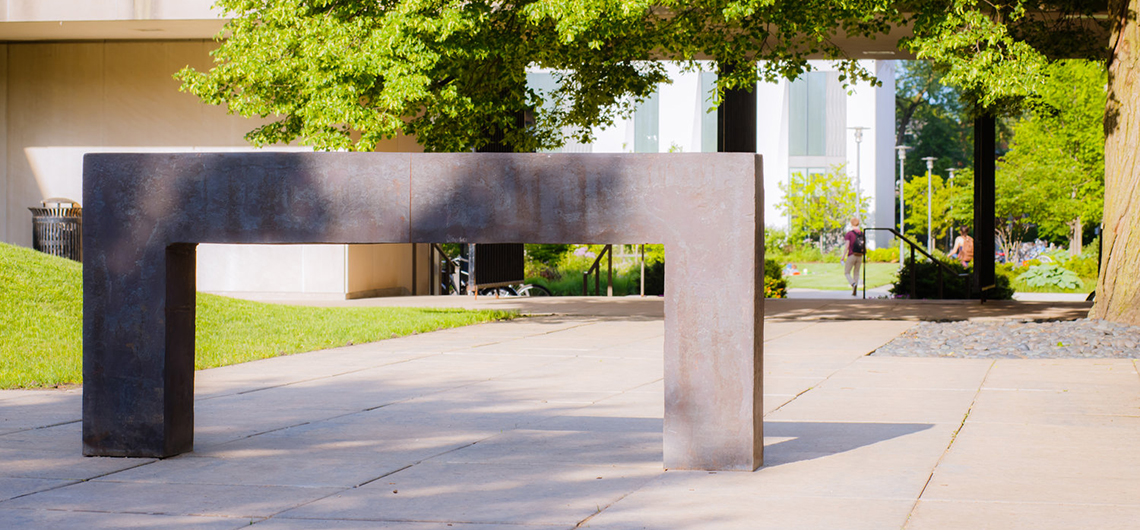 Richard Serra, Seattle Right Angles Propped, 1991. Photo by Sarah Larson.