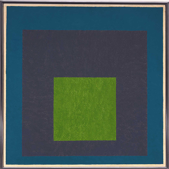 Josef Albers, Homage to the Square: Greene Myth, 1954