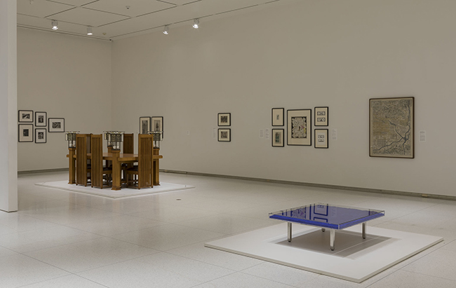 Installation view of Conversations with the Collection: Building/Environments