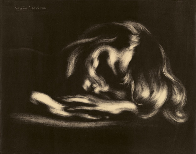 Eugène Carrière, Sleep, 1897, Lithograph. National Gallery of Art, Washington, Rosenwald Collection