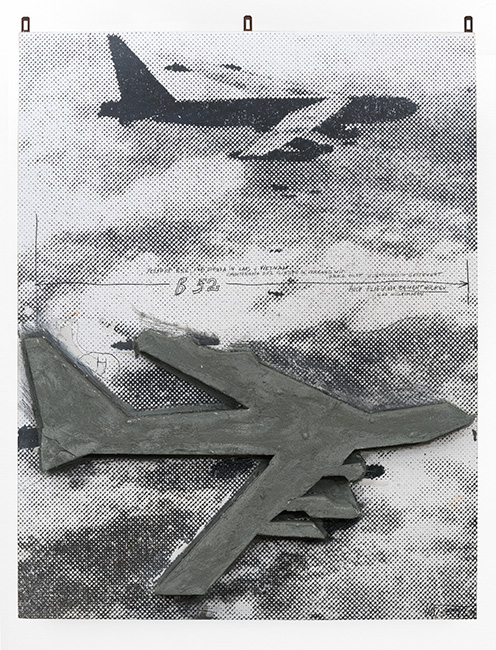 Wolf Vostell, B 52 in Laos on a Mission, 1970