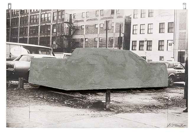 Wolf Vostell, Cadillac in Concrete, 1970
