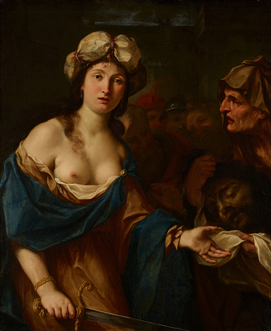 Giovan Gioseffo dal Sole, Judith with the Head of Holofernes, c. 1695, Oil on canvas. Lent by the Minneapolis Institute of Art, Gift of the Bernard H. Ritter Family,77.24.