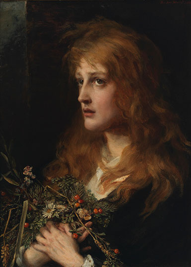Anna Lea Merritt, Ophelia, 1880, Oil on canvas. Smart Museum of Art, The University of Chicago, Bequest of Robert Coale, 2007.134.