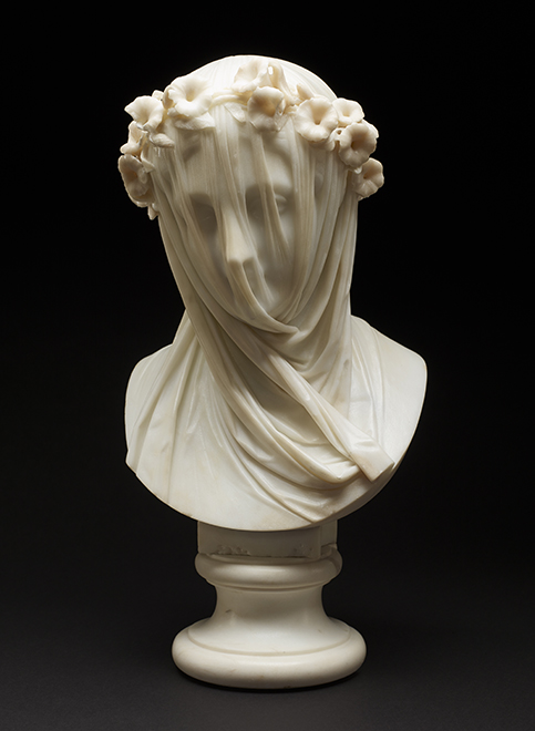 Raffaelo Monti, Veiled Lady, c. 1860, Marble. Collection of the Minneapolis Institute of Art, The Collectors' Group Fund, 70.60.