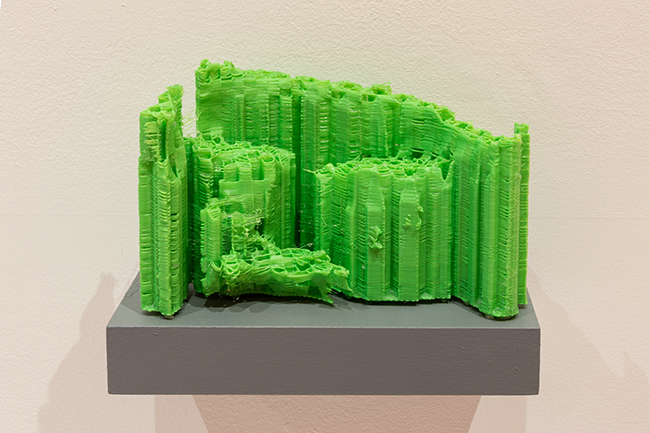 Samson Young, Support Structure, 2019, 3D-printed PLA, resin. Photo by Michael Tropea.