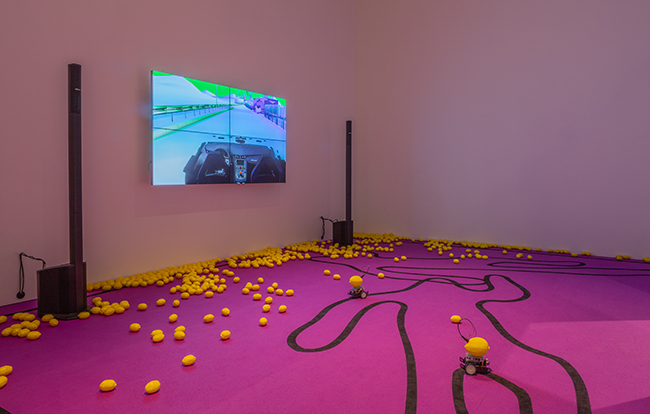 Samson Young, The highway is like a lion's mouth, Installation view, 2019. Photo by Michael Tropea.