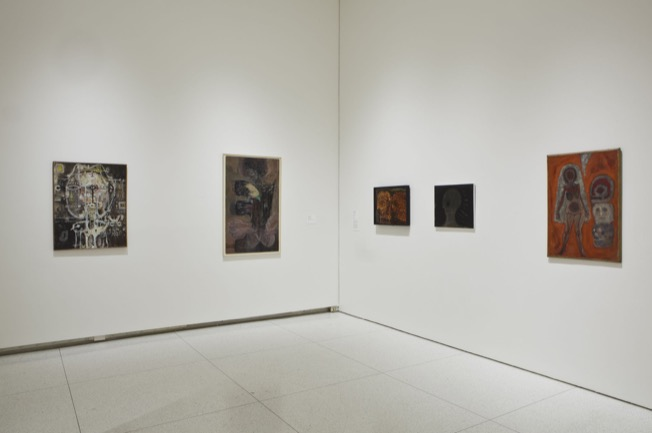 Installation view of Monster Roster