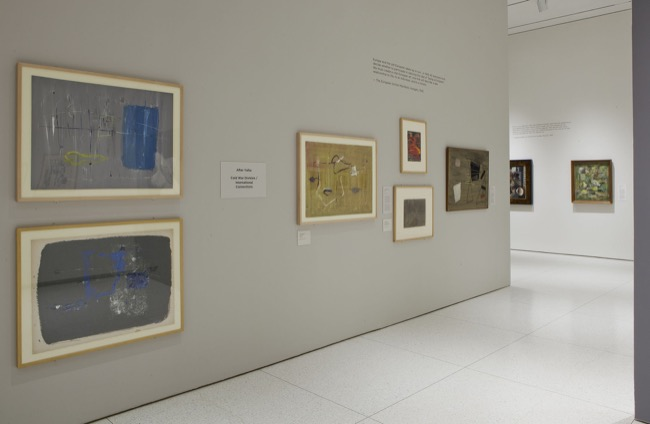 Installation view of Expressionist Impulses