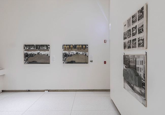 Installation view of Vostell Concrete