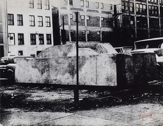 Wolf Vostell, Concrete Traffic, 1970