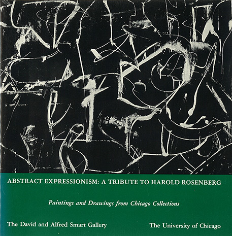 Book cover for Abstract Expressionism A Tribute to Harold Rosenberg