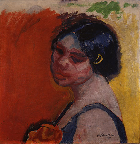 Max Pechstein, Head of a Girl, 1910