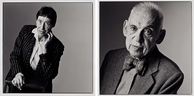 JoAnn Carney, Portraits of Selves (Betty Guttman) and Portraits of Selves (Lester Guttman), 2001